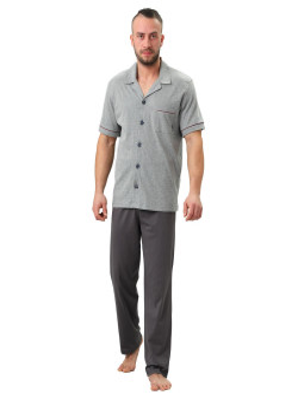 Męska piżama rozpinana BRAJAN